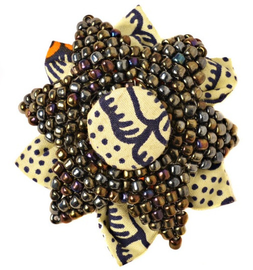 RHEA BEADED BROOCH