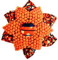 RUST CORAL BROOCH