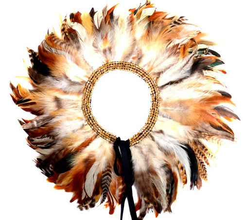 Gatsby Feather Collar (Chestnut)