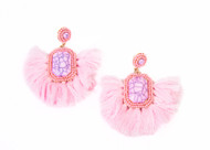 BLUSH PEACOCK EARRINGS