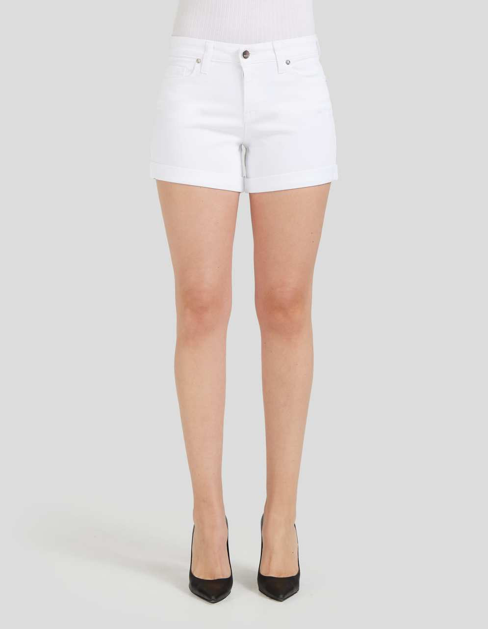 MID WAIST SHORTS - Sarah in White