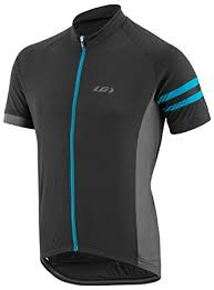 Louis Garneau Men's Evan's Classic Cycling Jersey Black/Gray/Blue