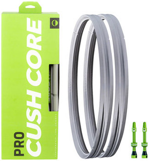 "CushCore Pro Tire Inserts Set 29"" Pair, Includes 2 Tubeless Valves"