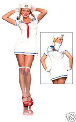 SAILOR GIRL navy womens sexy  halloween costume M L