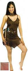 POCAHONTAS INDIAN brown adult native american princess halloween costume MEDIUM