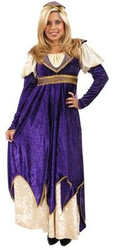 MAIDEN OF VERONA juliet renaissance purple gown halloween costume adult LARGE