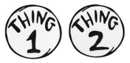 Dr. Seuss Thing 1 Thing 2 Embroidered Patch