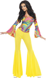 70s Groovy Babe Costume Womens