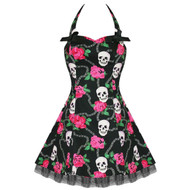 Skully Mini Dress Day of Dead Skull - Imported from UK