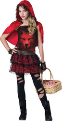 Gothic Little Red Riding Hood Costume Tween