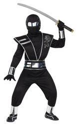 Silver Mirror Ninja Kids Halloween Costume
