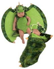 Darling Dragon Swaddle Wings Costume Newborn 0-3 Months