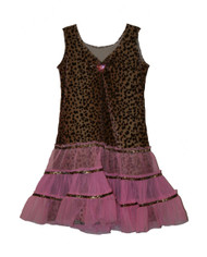 Leopard Diva Girls Costume