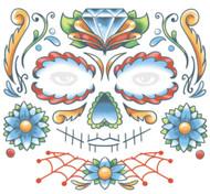 Candy Skull Face Temporary Tattoo Tinsley Transfers