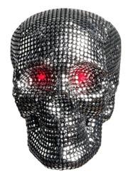 Light-Up Hanging Glamour Skull Halloween Decoration