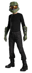 Boys Master Chief Halo Child Costume Accessory Kit - Gloves, Half Mask