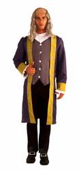BEN FRANKLIN american historical colonial mens adult hero halloween costume