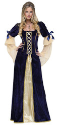 Maiden Faire Blue and Gold Women's Renaissance Costume