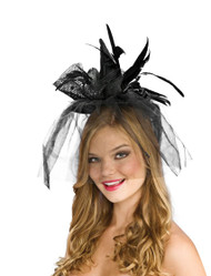 Black Mini Witch Facisnator Hat Halloween Costume Accessory by Rubies