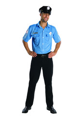 POLICE MAN uniform officer cop mens career halloween costume XL