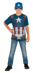 kids boys Captain America Civil War Top & Mask Costume