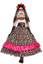 Day of the Dead Spanish Lady Dress adult womens Halloween costume