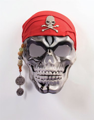 Pirate Captain Skull Mask adult mens Halloween costume accessory