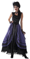 purple Poison dress gothic witch zombie adult womens Halloween costume
