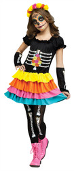 Day of the dead Dia De Los Muertos Costume Child