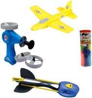 Aeromax Backyard Summer Flying Toys Bundle 1 of Each A2000T AFF SBL SSS Toys