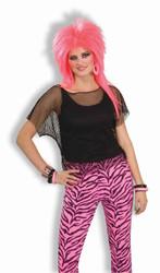 BLACK MESH TOP fishnet 80s rocker rave adult teen womens mens shirt costume