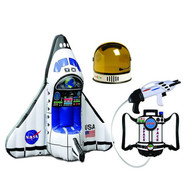 Aeromax Astronaut Space Kids Bundle 1 of Each Astronaut Helmet, Water Squirt Gun and Inflatable Space Shuttle