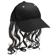 Billy Ray Hat with Brown Mullet Redneck mens hillbilly costume