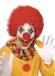red Color Team Spirit Clown WIG adult womens mens Halloween costume accessory