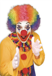 Rainbow Afro Clown adult mens womens Halloween costume accessory