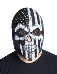 Skeleton skull America USA overhead latex mask