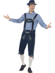 Oktoberfest Costume Mens Bavarian Lederhosen Halloween