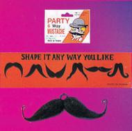 Six-Way Moustache - Black Mens Adult Halloween costume accessory