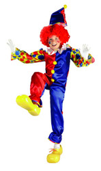 Bubbles the Clown circus kids boys girls Halloween costume