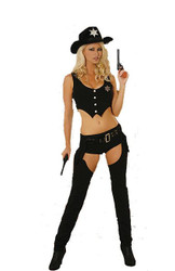 Sheriff police cop sexy womens  halloween costume Large