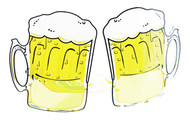 BEER MUG GLASSES funny drinking adult alcohol novelty halloween costume