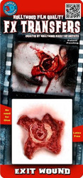 3D Exit Wound Tinsley Transfers Makeup FX Temporary Tattoo