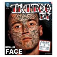 Hoodlum Face Tatttoo Tinsley Transfers Temporary Tattoo