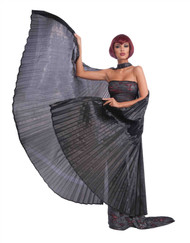 Black Gothic Theatrical wings adult womens Halloween Costume Accessory