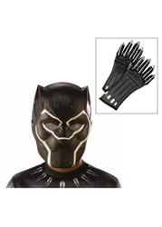 Child Black Panther 1/2 Movie Mask and Gloves Set - One Size