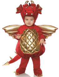 Underwraps Dragon Boys Toddler Red Belly Baby Costume Medium 18/24M