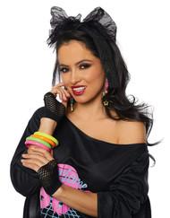 80's costume accessory kit scarf earrings gloves bracelets halloween adult women