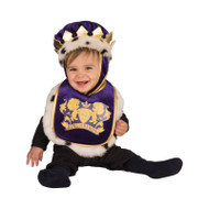 King Infant Purple Royal Bib Costume - 12M