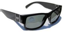 Hoven Knucklehead Sunglasses - Black Gloss - Grey Polarized