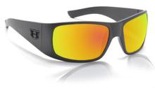 Hoven Ritz Sunglasses - black on black/ fire chrome polarized